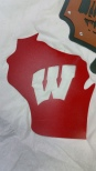 wi badgers sign